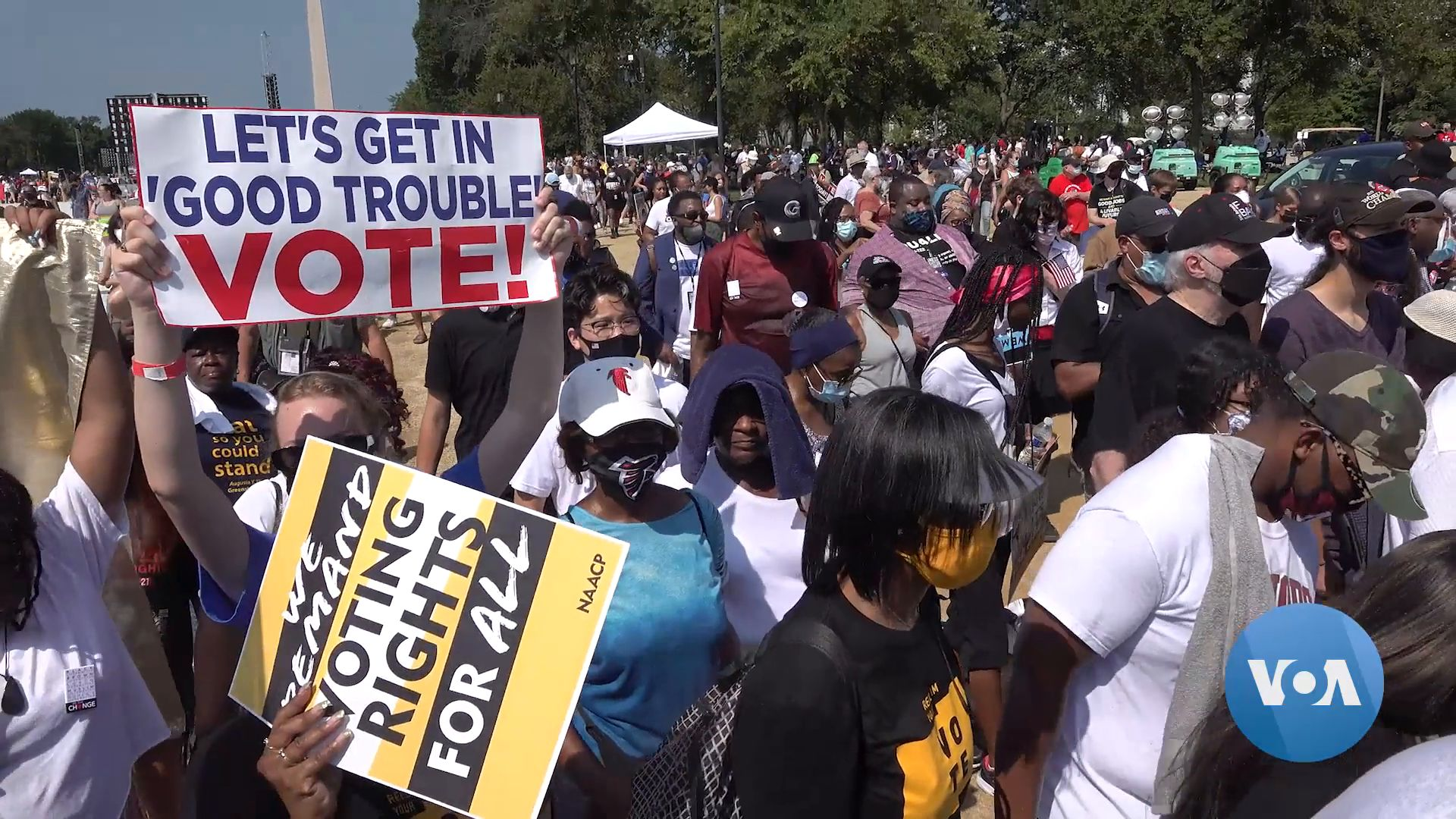 Thousands March for Fair, Easy Access to Vote for All