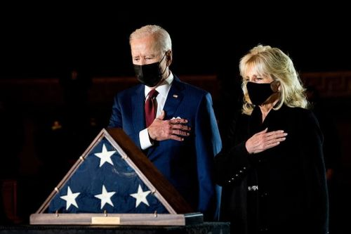 Bidens Pay Respects to Late Capitol Police Officer
