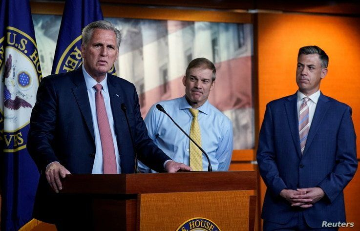 U.S. House Minority Leader Kevin McCarthy (R-CA) announces the withdrawal of his nominees to serve on the special committee…