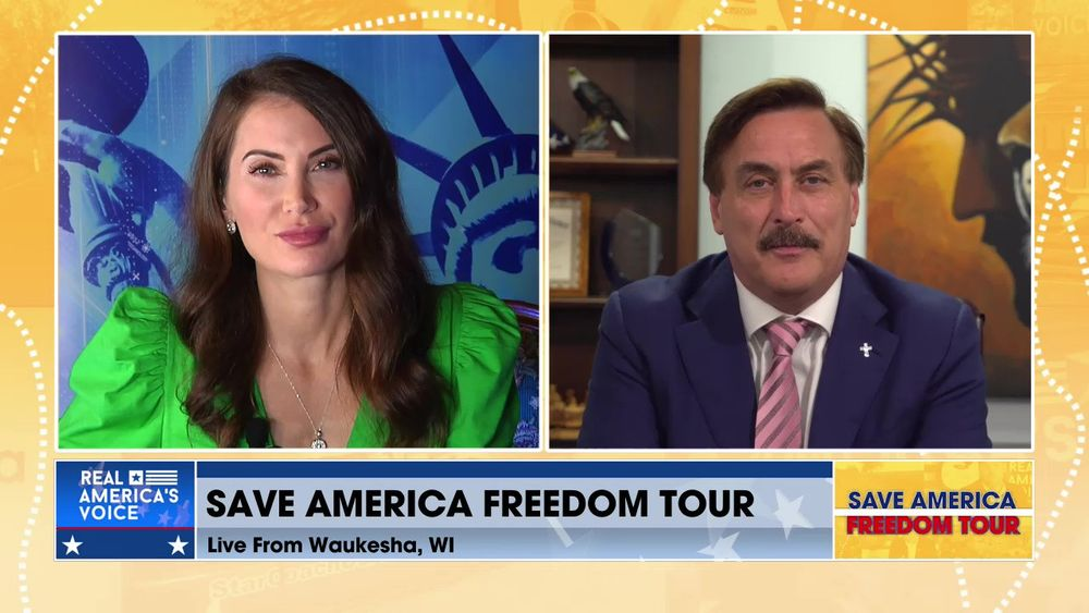 Mike Lindell Joins Amanda Head for the Save America Freedom Tour